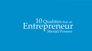 10 Qualities of Successful Entrepreneurs