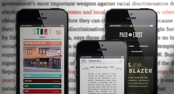 Clear vision of the products in mobile site