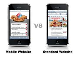Difference between mobile websites and standard websites